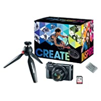 Canon PowerShot G7X Mark III Digital Camera, Video Creator Kit with Tripod, Memory Card, and Detachable Bluetooth Remote, Black, small (1066C029)