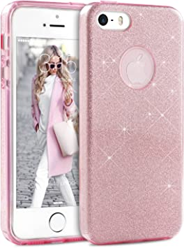 Coque iPhone 5S Paillette Rose, TheBlingZ.® Coque iPhone 5, Housse ...