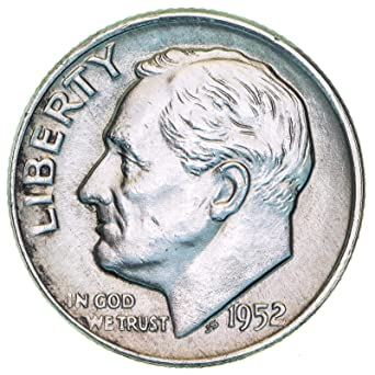 1952 D 10c Roosevelt Silver Dime US Coin Uncirculated Mint State
