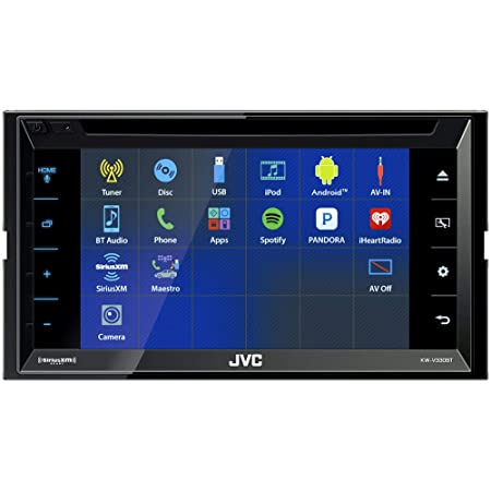 JVC KW-V330BT 6.8 Double DIN Bluetooth in-Dash DVD CD AM FM Digital Media Car Stereo with Rear View Camera