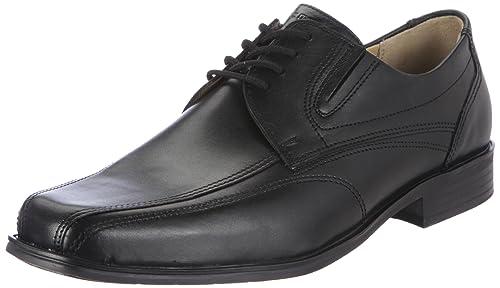 Fretz Men Andrew - Zapatos con Cordones de Cuero Hombre, Color Negro, Talla 41 1/3