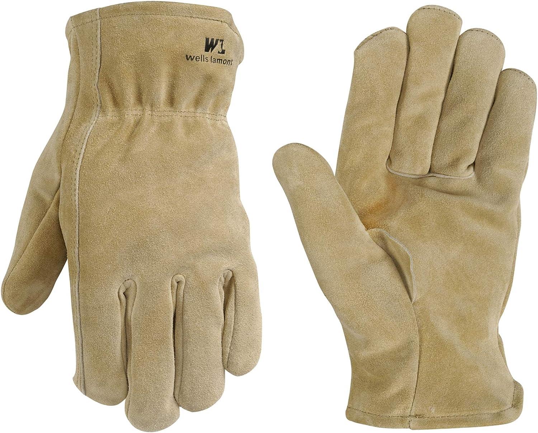 100-gram Thinsulate Insulation Leather Winter Work Gloves New Split Cowhide..