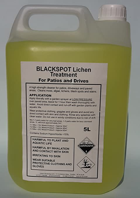 Beau Black Spot Lichen Remover, Sandstone Cleaner, Block Cleaner, Patio Cleaner,  5L.