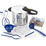 Zavor DUO 10-piece Pressure Canner Set, 10 Qt Pressure Cooker with Complete Canning Kit and 2 Cookbooks (ZCWDU06)