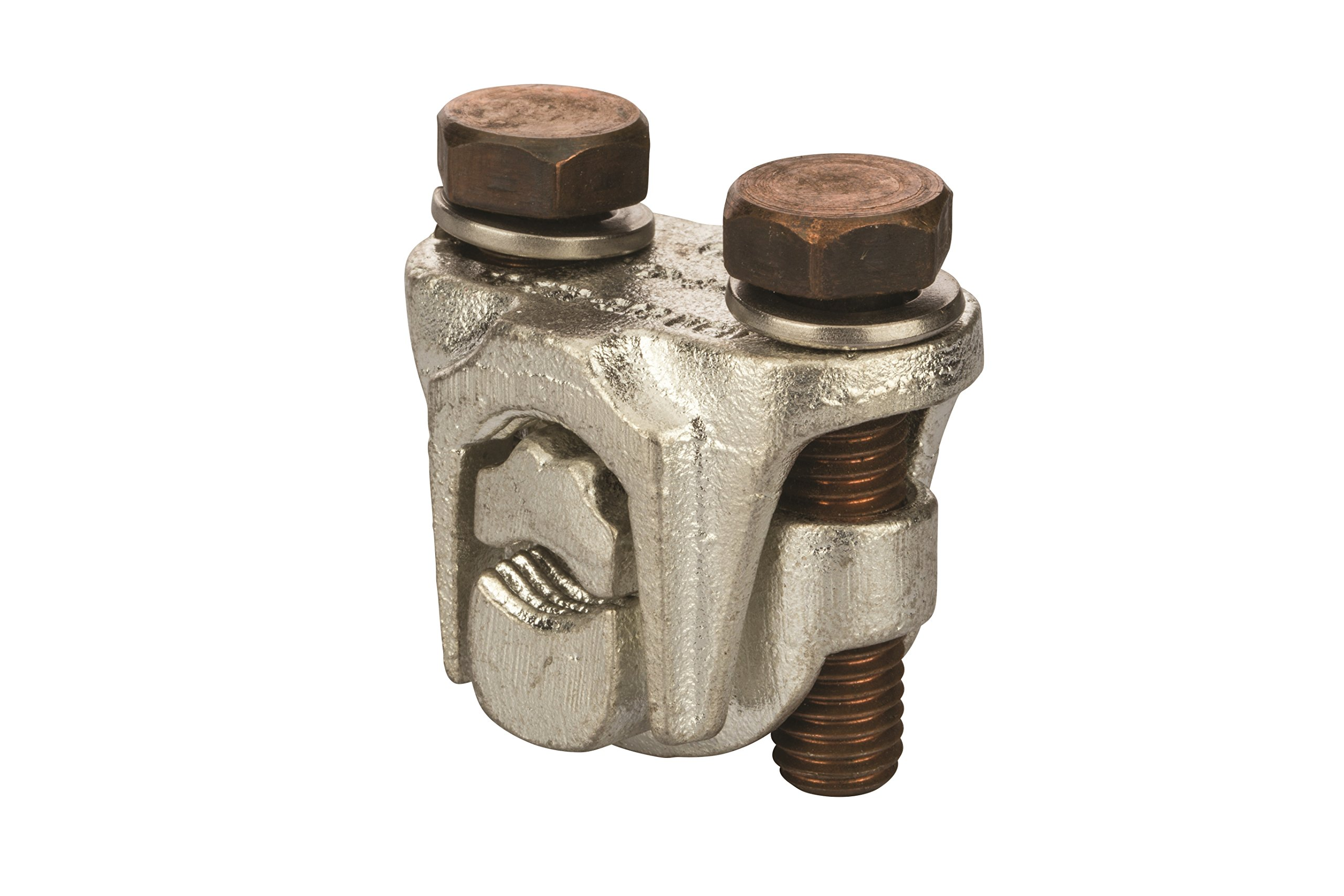 Two-Bolt Bronze Plated Tap Connector 500 MCM - 350 MCM- 1 Count by NSI