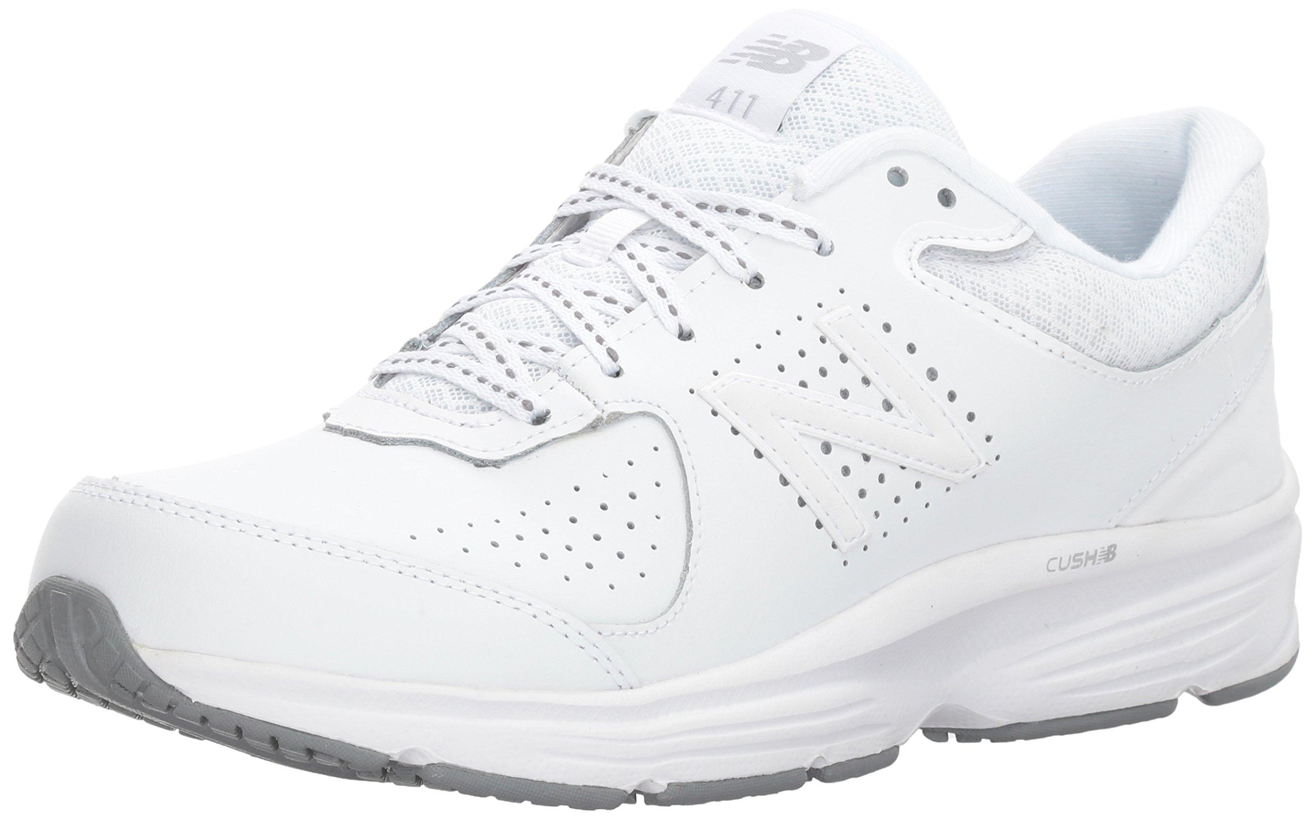 New Balance Women's WW411v2 Walking Shoe, White, 5.5 2A US