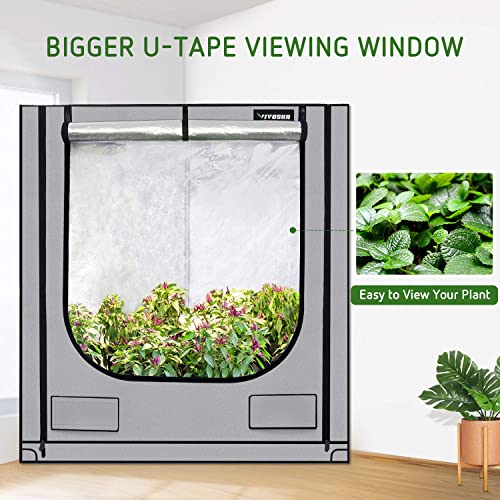 VIVOSUN Triangle Grow Tent with Bigger View Window for Indoor Plant Growing 41 x57 x71