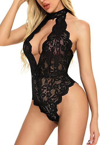 in Her Web Lace Teddy