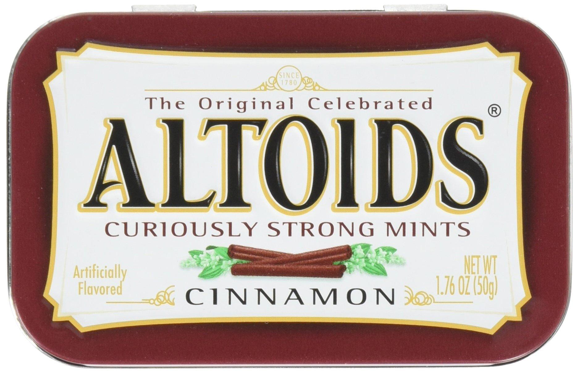 Altoids Curiously Strong Mints, Cinnamon, 1.76oz Per Tin, 6 Tin Pack