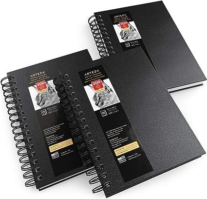 """Arteza Cuaderno de dibujo, 5.5x8.5"""" (14 x 21,6 cm), pack 3 blocs de"""