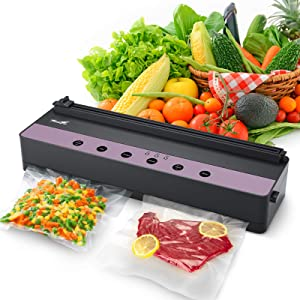 Vacuum Sealer Machine: TowerTop Automatic Food Saver Commercial Vacuum Packing Machine for Food Preservation, with Dry & Moist & Soft Sealing Modes, One-Touch Operation, Built-in Cutter and Roll Vacuum Bags