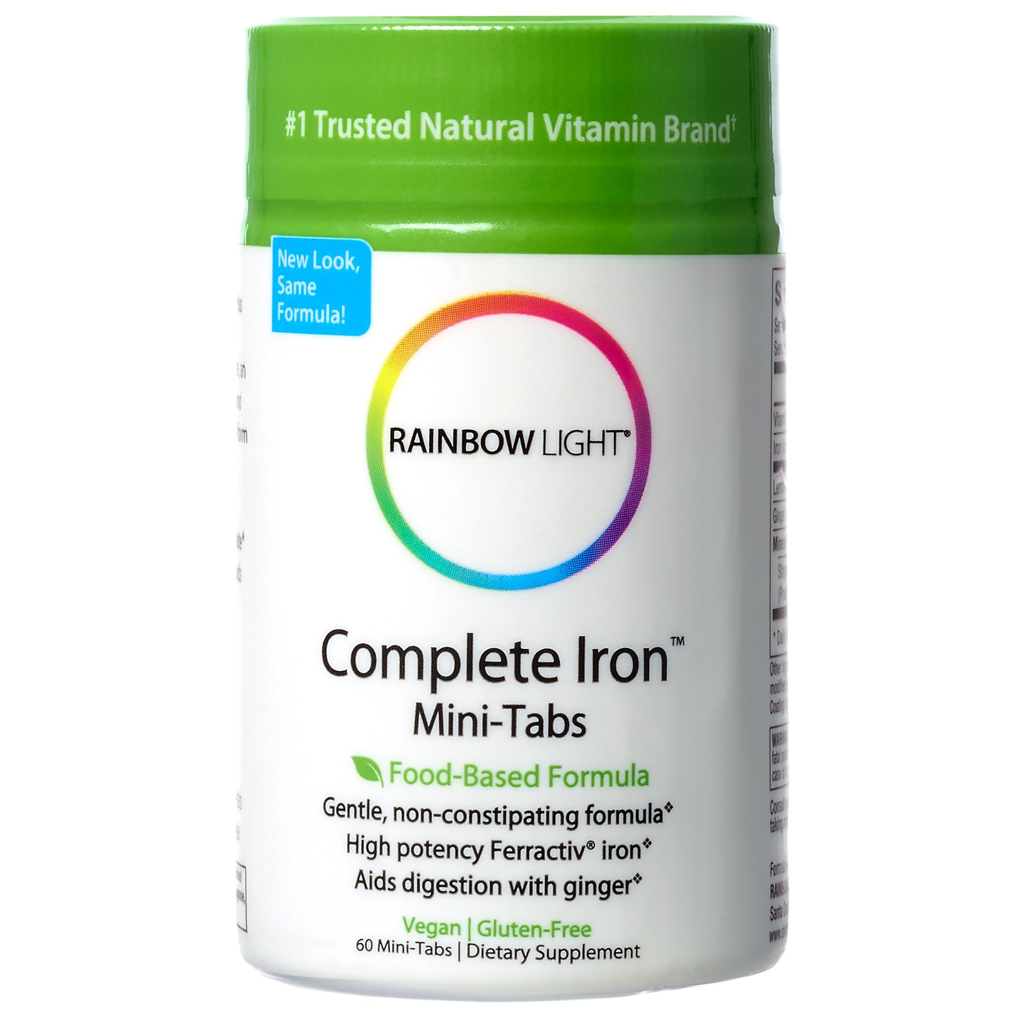 Rainbow Light - Complete Iron Mini-Tabs, 60 Count, Vegan, Energy