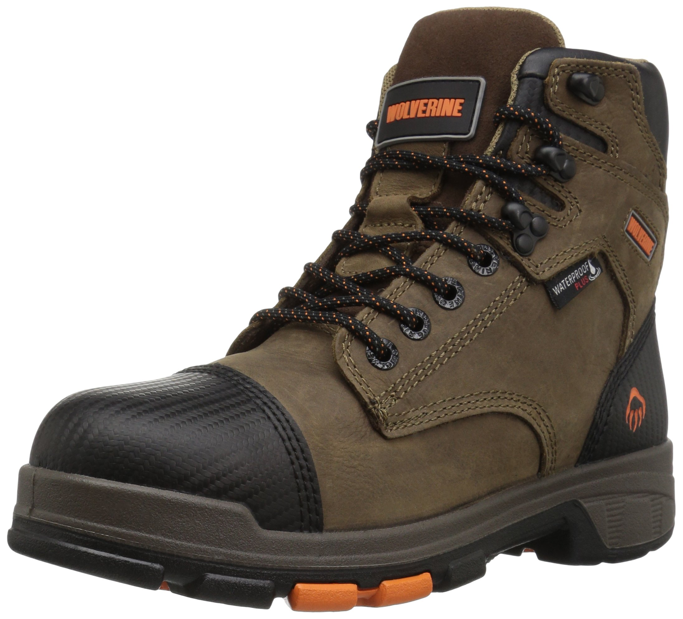 Wolverine Men's Blade LX Waterproof 6'' Soft Toe Work Boot, Brown, 13 M US