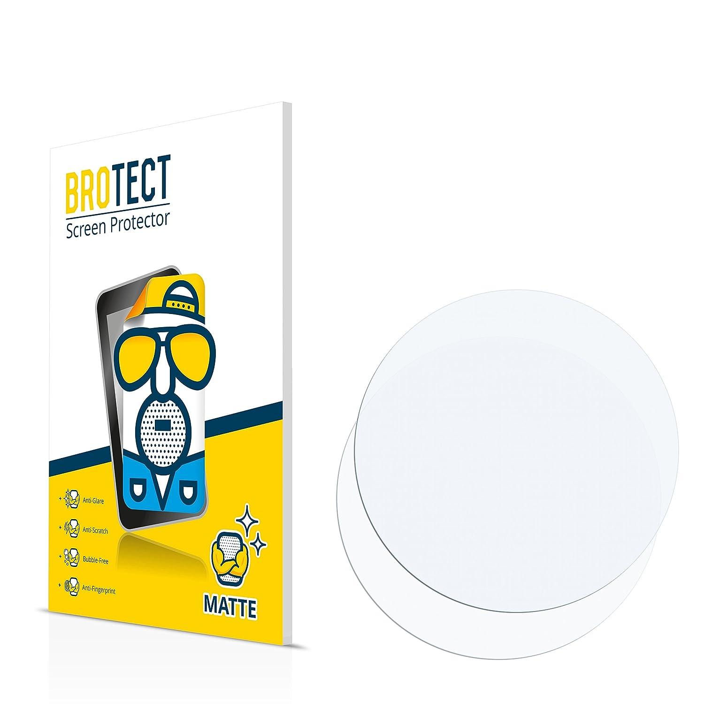 BROTECT Pellicola Protettiva Opaca Orologi (Circolare, Diametro: 46mm) Protezione Schermo [2 Pack] - Anti-Riflesso, Anti-Graffio Bedifol