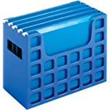 Pendaflex 23011 Desktop File w/Hanging Folders, Letter, Plastic, 12 1/4 x 6 x 9 1/2, Blue