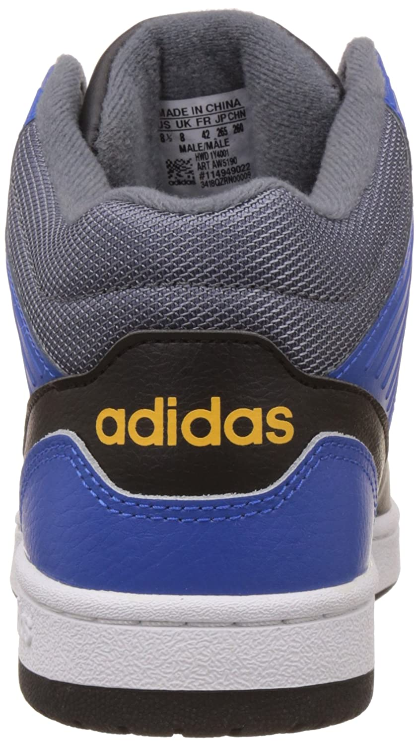 45 Size Uomo Scarpe Sportive Hoops Jumpshot Mid Adidas Multicolore OgwfAqF