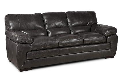Amazon.com: 6983 Dallas Leather Sofa - Grey: Kitchen & Dining