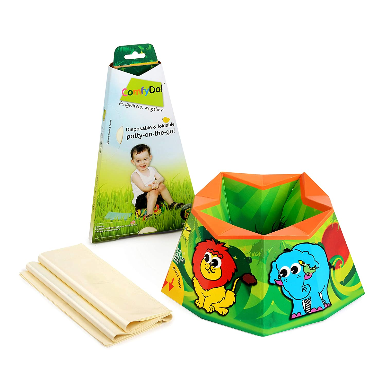 ComfyDo Disposable and Foldable Travel Potty (Jungle Fun) 2001