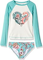 Billabong Big Girls' Blooming Beauty Rashguard Swim Set