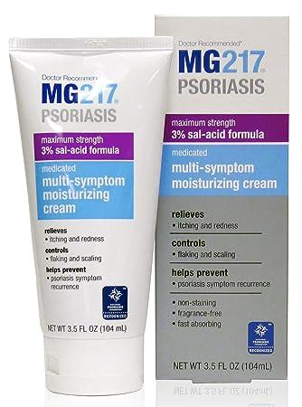 MG217 Psoriasis Cream, 3% Salicylic Acid Multi-Symptom Moisturizing  Psoriasis Cream, 3 5 Fluid Ounce