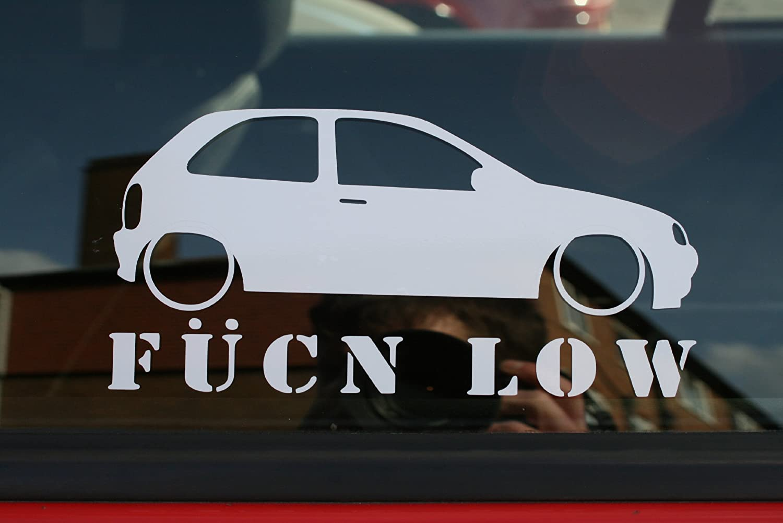 Fucn low car sticker for vauxhall corsa b sport amazon co uk car motorbike