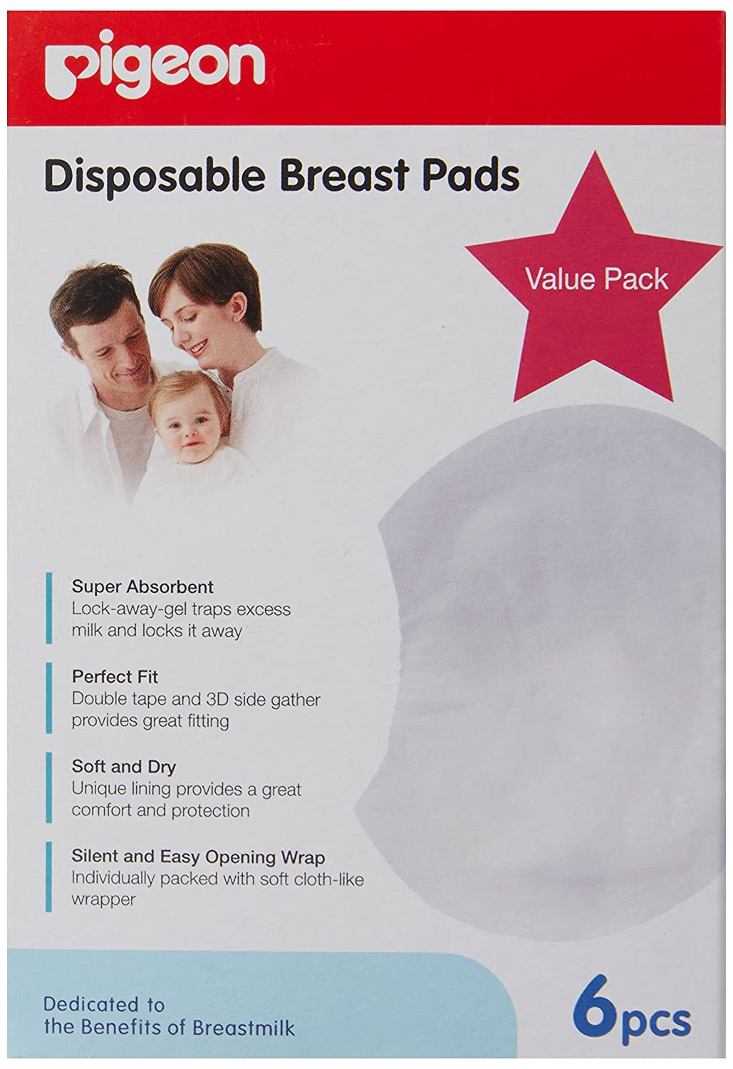 Pigeon Breast Pads (6 piece) by Pigeon   B00BSNCXDK