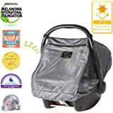 Snoozeshade Infant Carriers Deluxe Breathable Mesh Infant Car Seat Sunshade and Canopy