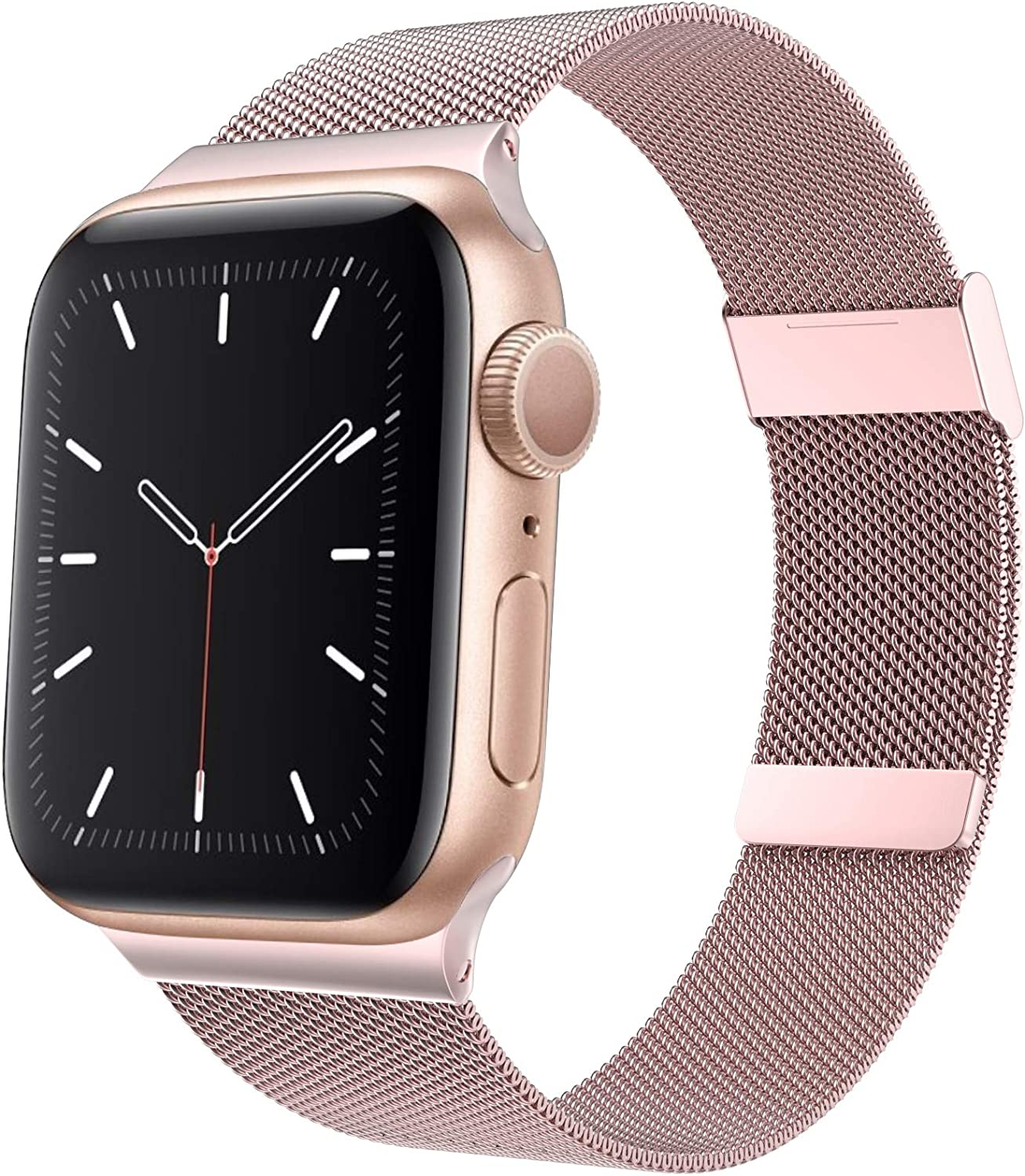 Aoute Compatible with Apple Watch Bands 38mm 40mm 42mm 44mm Women Men, Stainless Steel iWatch Bands for Series 6/SE/5/4/3/2/1