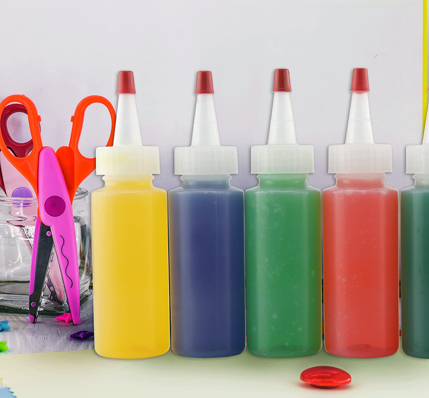Amazon 2 Oz HDPE Plastic Squeeze Bottles for Crafts Food Art