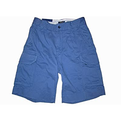 RALPH LAUREN Polo Mens Chino Cargo Shorts (29, Vintage Blue) | Amazon.com