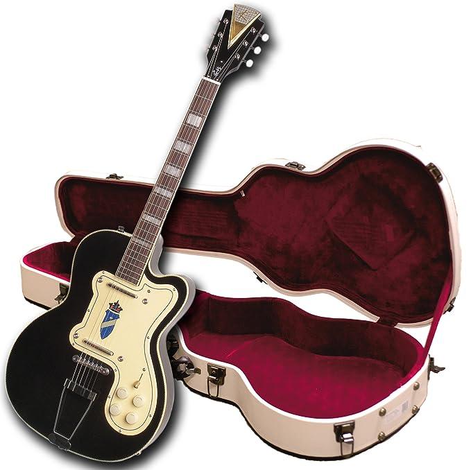 Kay Reissue K161VBK Thin Twin - Guitarra eléctrica, color negro: Amazon.es: Instrumentos musicales