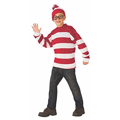 Rubie's Deluxe Child's Where's Waldo Costume, Medium: Toys & Games