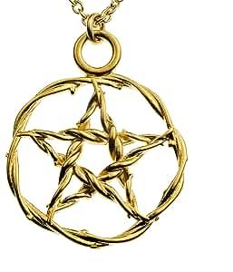 Pentacle gold-dipped colgante collar de cadena con eslabones 20 ...