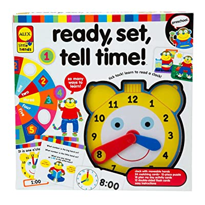 ALEX Toys Little Hands Ready Set Tell Time: Toys & Games