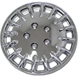 TuningPros WSC-023C15 Chrome Hubcaps Wheel Skin Cover 15-Inches Silver Set of 4