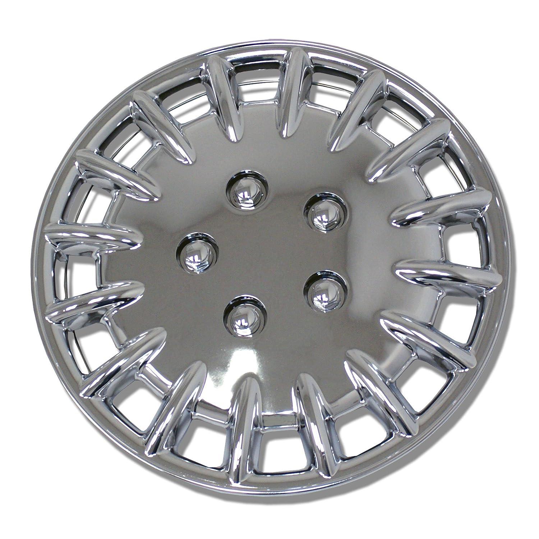 tuningpros wc-15 - 1023-c 15-inches-chrome mejorado piel cubierta de la rueda tapacubos conjunto de 4: Amazon.es: Coche y moto