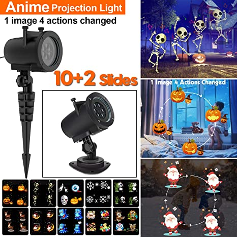 amazon com led christmas animated projector lights 12 slides