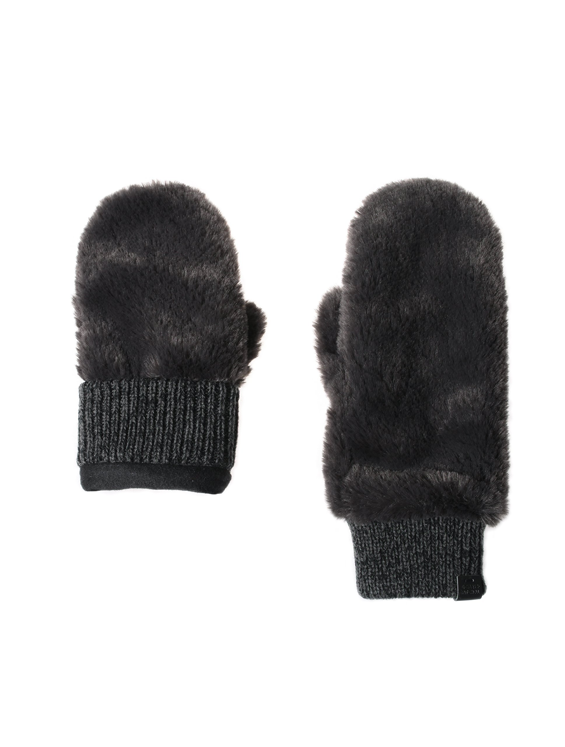 Bickley & Mitchell Women's Faux Fur Mittens, grey, ONE SIZE