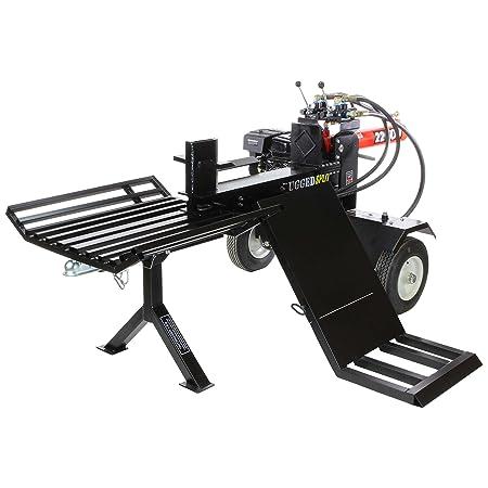 RuggedMade 22-Ton Push Through Gas Log Splitter, 212CC Electric Start w Log Lift, Catcher