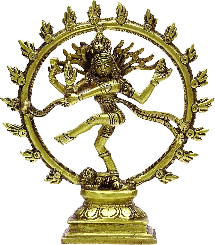 デコレーションメタルアートギフトLord Nataraja Statue Indian真鍮ホームテーブル装飾