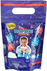 Steve Spangler Science Insta-Snow Powder, 3.5 oz – Fun Science Kits for Kids, Simple and Safe, Makes Realistic, Fluffy Snow in Seconds, Top Sensory Toys & STEM Activities for Classrooms and Home