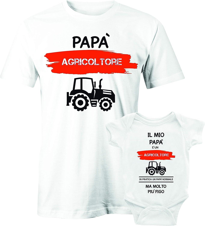 in Cotone by in Pratica Un pap/à Normale ma Molto pi/ù Figo Il Mio pap/à /è Un Motociclista Puzzletee Coppia T-Shirt e Body Festa del pap/à Padre Figlio pap/à Motociclista