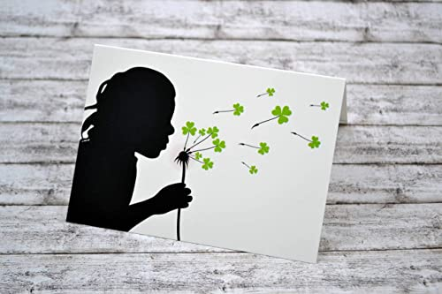 Grußkarte Naturpapier Set 3 Stück Karte Klappkarte