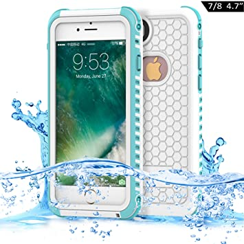 Dailylux Funda iPhone 8,Carcasa para iPhone 7 Funda Impermeable para iPhone 7/8 4.7 Inch Normal o Bajo El Agua de Doble Uso de con Protector de ...