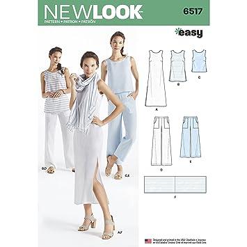 Simplicity Muster New Look Damen Kleid/Tunika/Top/Pants/Schal ...