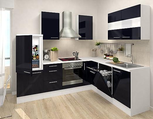 respekta Calidad L 260 x 200 cm con 110 cm Mueble de Cocina Blanco ...