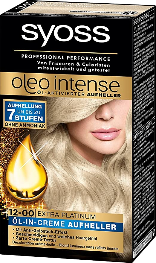 Syoss Oleo Intense 12-00 Platinum.: Amazon.es: Belleza
