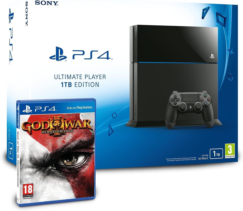 PlayStation 4 - Consola 1TB + God of War 3 - Remasterizado: Amazon.es: Videojuegos