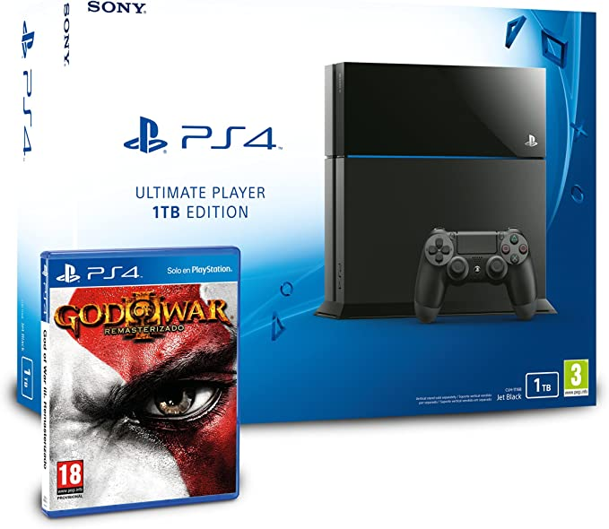 PlayStation 4 - Consola 1TB + God of War 3 - Remasterizado: Amazon.es: Videojuegos
