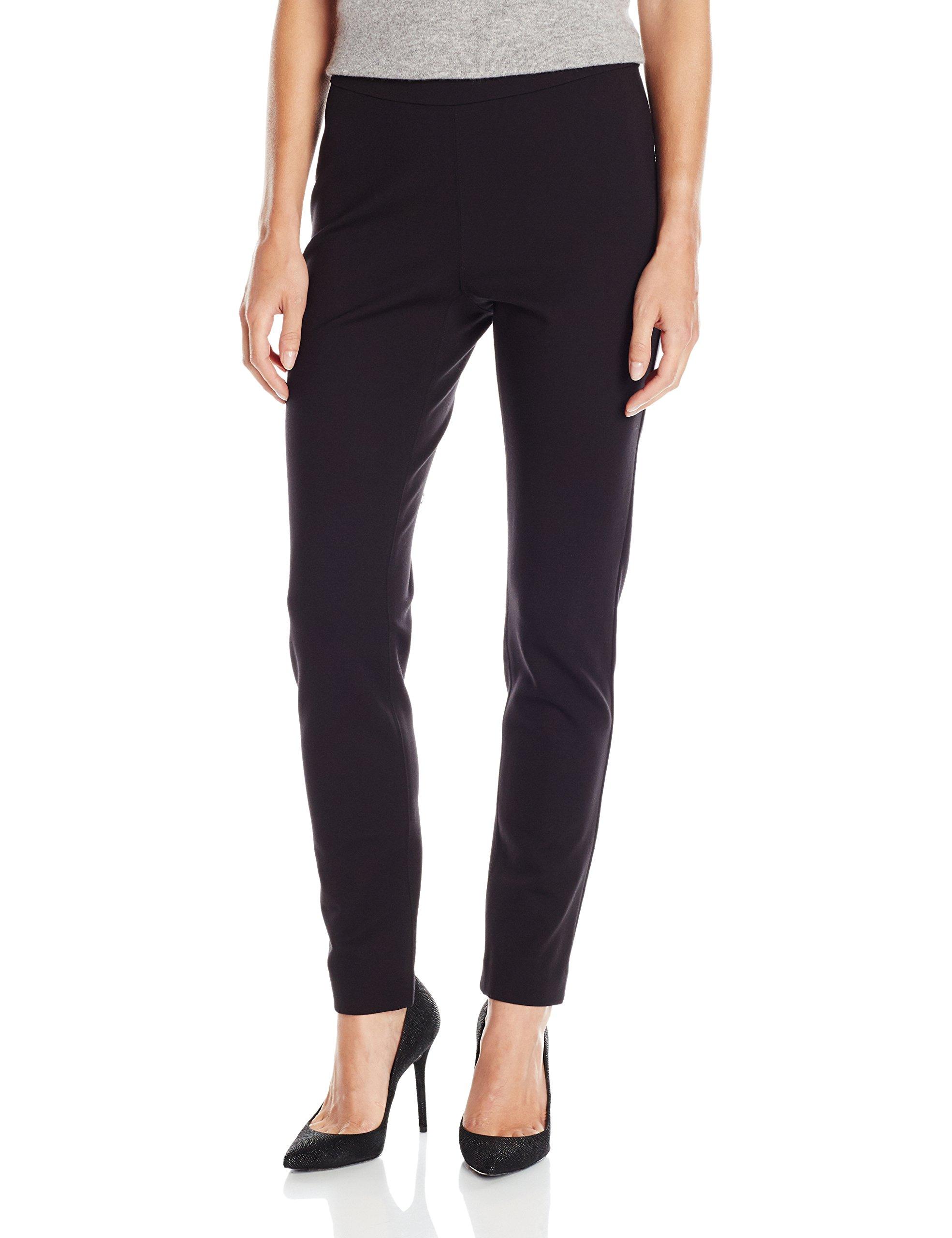 Pendleton Women's Reed Knit Pants, Black Ponte, 8
